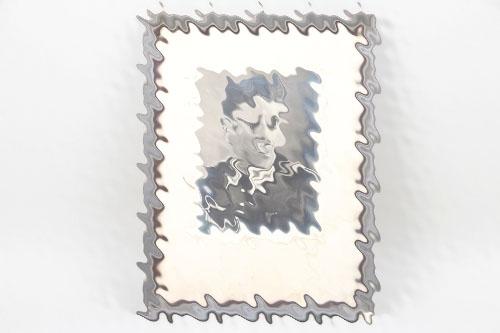 Framed portrait photo Infanterie Feldbwebel