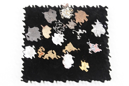Third Reich badge collection on board