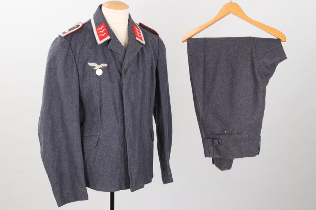 Luftwaffe Flak flight blouse to a Feldwebel + replica breeches